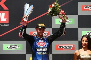 Podium: derde plaats Michael van der Mark, Pata Yamaha