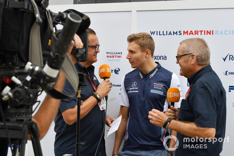 Sergey Sirotkin, Williams Racing with the media