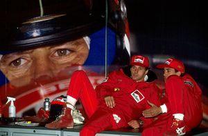 Gerhard Berger, Ferrari en Jean Alesi, Ferrari