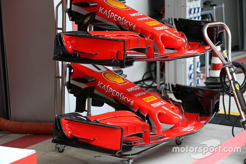 Ferrari SF71H front wing comparsion