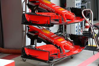 Comparativa de alerones de Ferrari SF71H