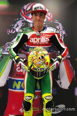 Helm von Aleix Espargaro, Aprilia Racing Team Gresini, in Erinnerung an Marco Pantani