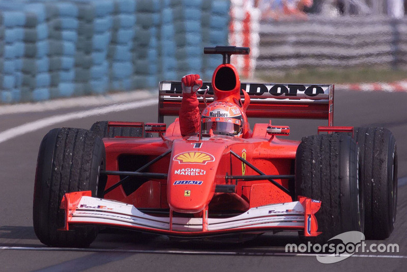 Race winner Michael Schumacher, Ferrari F2001