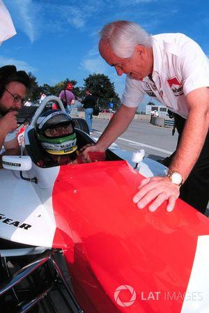 Gonzalo Rodriguez, Team Penske, Lola-Mercedes, mit Roger Penske