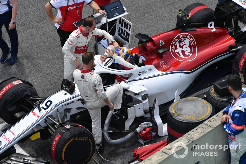Marcus Ericsson, Alfa Romeo Sauber C37 on the grid
