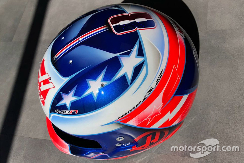 Casco de Romain Grosjean