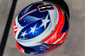 Helmdesign von Romain Grosjean, Haas F1 Team, für den GP USA 2018