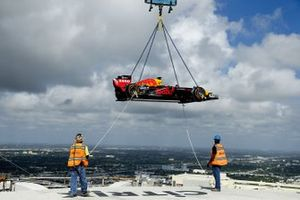 Red Bull Racing F1 car on top of the One Thousand Museum