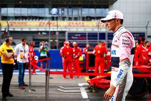 Esteban Ocon, Racing Point Force India VJM11, sur la grille