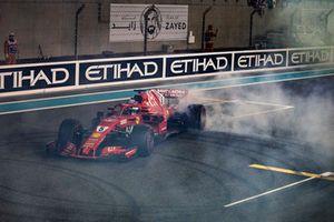 Sebastian Vettel, Ferrari SF71H donuts