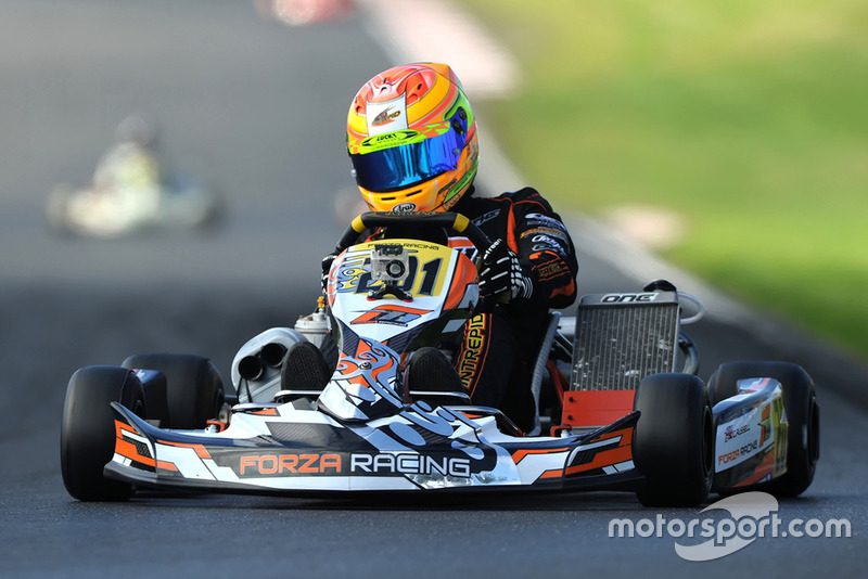 George Russell, karting