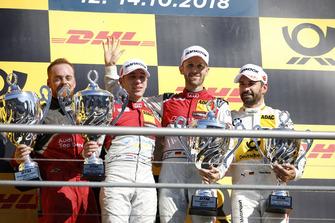 Podium: Race winner René Rast, Audi Sport Team Rosberg, second place Robin Frijns, Audi Sport Team Abt Sportsline, third place Timo Glock, BMW Team RMG