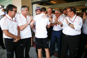 Fernando Alonso, McLaren and Stoffel Vandoorne, McLaren at McLaren's farewell presentation