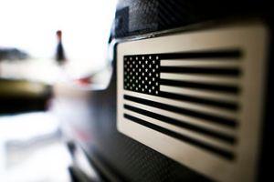 US flag on the Haas F1 Team VF-18
