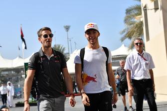 Romain Grosjean, Haas F1 Team et Pierre Gasly, Scuderia Toro Rosso
