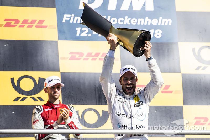Podium: champion Gary Paffett, Mercedes-AMG Team HWA