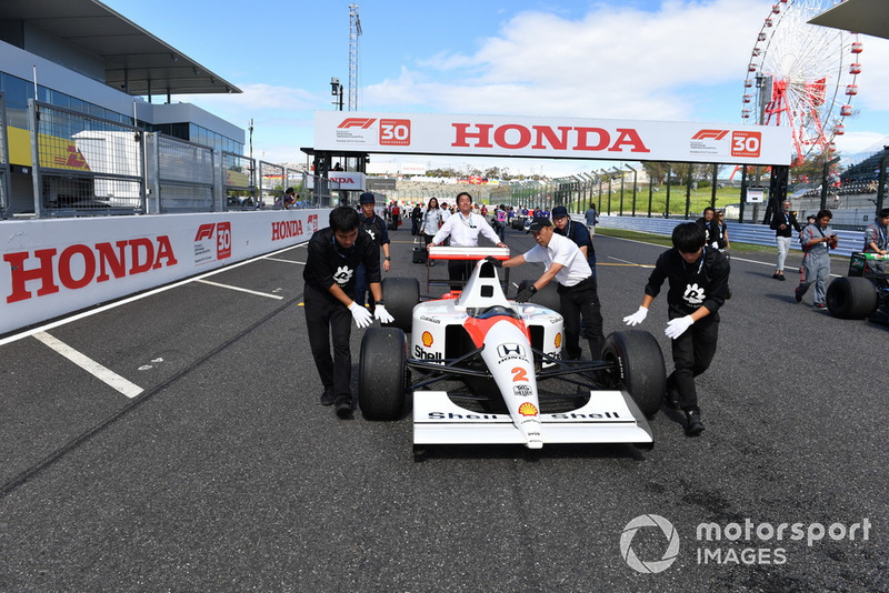 McLaren Honda MP4-7A, acara demonstrasi lap Perayaan Legenda F1 ke-30