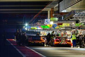 #4 Mercedes-AMG Team HRT Mercedes-AMG GT3: Maro Engel, Luca Stolz, Vincent Abril, #72 SMP Racing Ferrari 488 GT3: Miguel Molina, Davide Rigon, Sergey Sirotkin