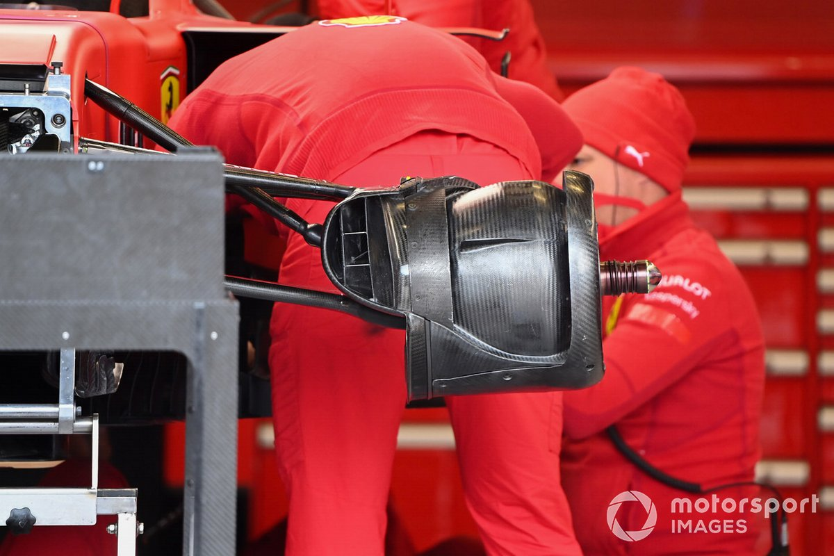 Ferrari SF1000 front brake detail