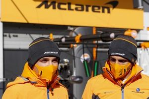 Lando Norris, McLaren and Carlos Sainz Jr., McLaren
