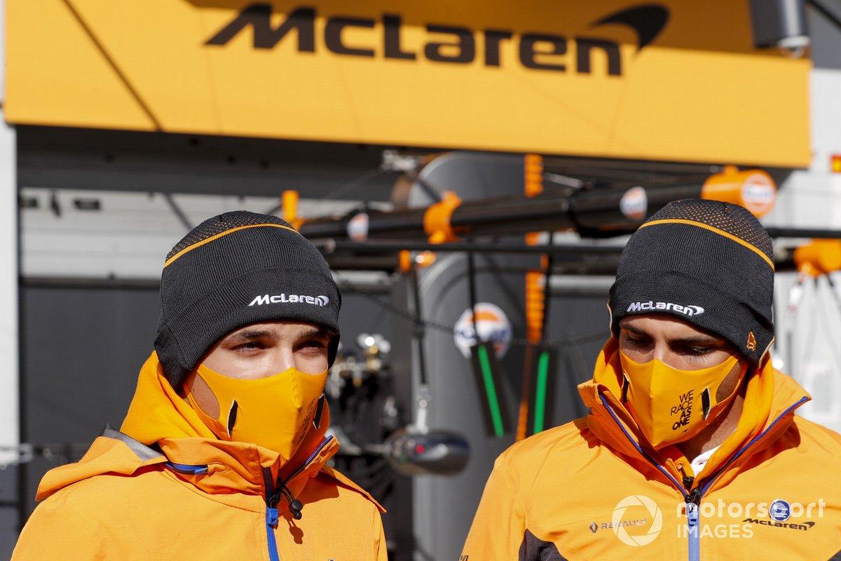 Lando Norris, McLaren and Carlos Sainz Jr., McLaren