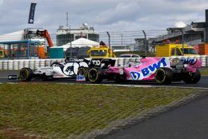 Pierre Gasly, AlphaTauri AT01, Sergio Perez, Racing Point RP20