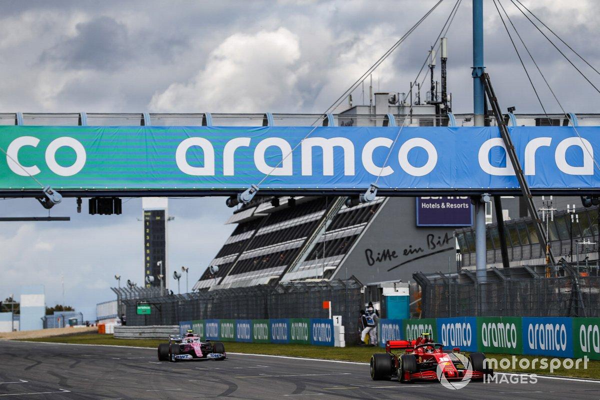Charles Leclerc, Ferrari SF1000, Nico Hulkenberg, Racing Point RP20