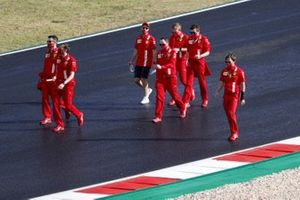 Sebastian Vettel, Ferrari, walks the track
