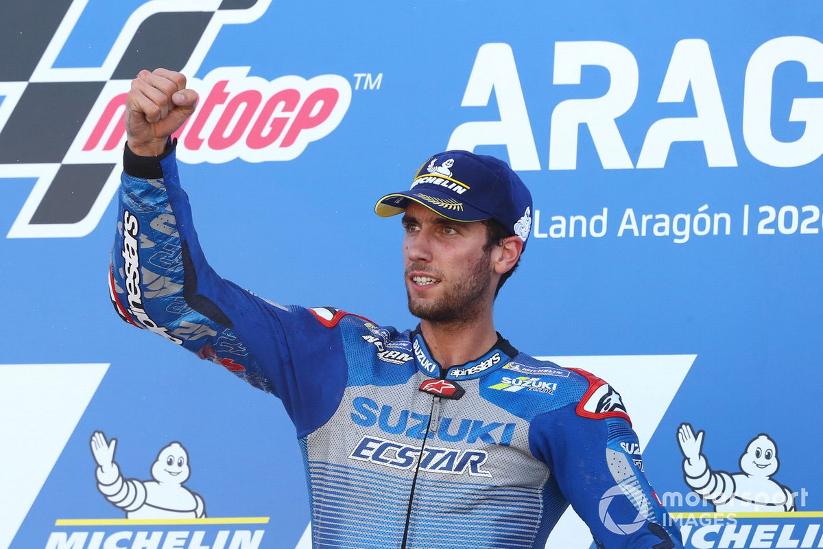 El ganador: Alex Rins, Team Suzuki MotoGP