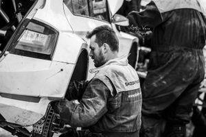 Oliver Solberg, Aaron Johnston, Skoda Fabia Rally2 evo