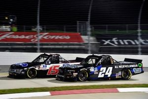 #15: Tanner Gray, DGR-Crosley, Ford F-150 Ford Performance and #24: Sam Mayer, GMS Racing, Chevrolet Silverado Armour Guard