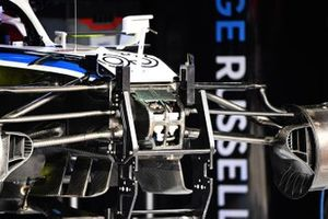 Front suspension details of the Williams FW43