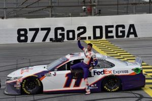 Race winner Denny Hamlin, Joe Gibbs Racing, Toyota Camry