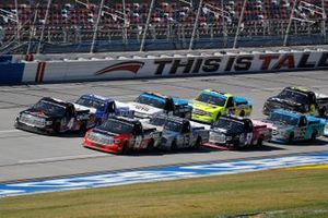 Derek Kraus, McAnally Hilgemann Racing, Toyota Tundra SHOCKWAVE/ENEOS, Raphael Lessard, Kyle Busch Motorsports, Toyota Tundra Canac