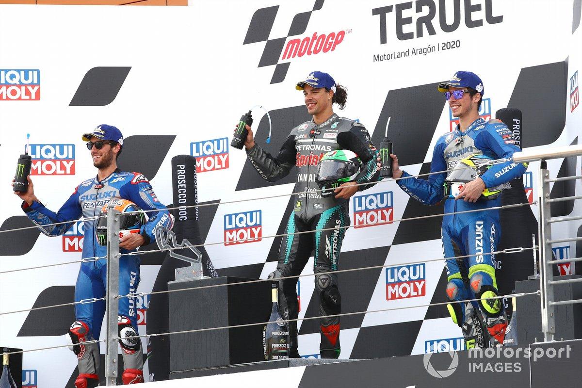 Podio: Alex Rins, Team Suzuki MotoGP Franco Morbideli Joan Mir, Team Suzuki MotoGP