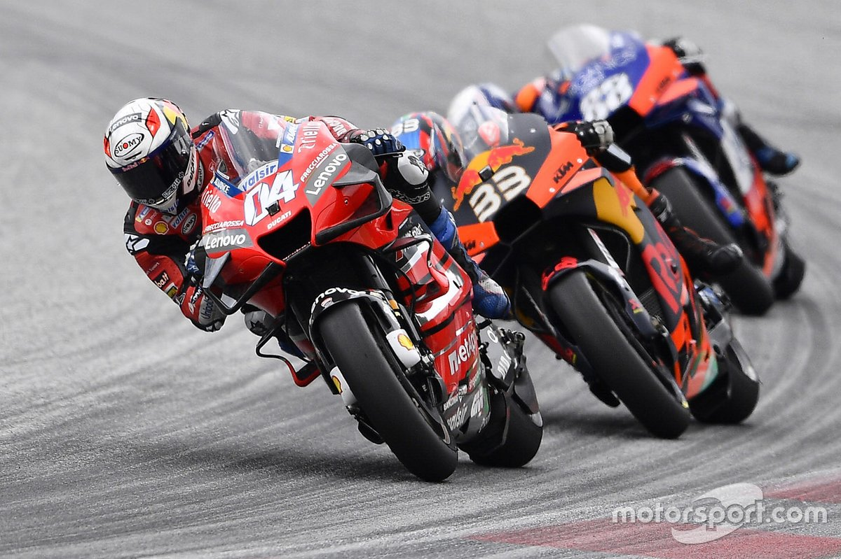 Andrea Dovizioso, Ducati Team, Brad Binder, Red Bull KTM Factory Racing, Miguel Oliveira, Red Bull KTM Tech 3