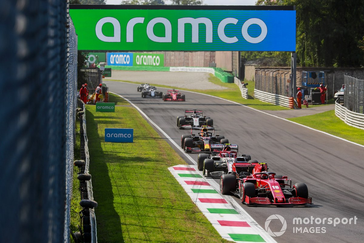 Charles Leclerc, Ferrari SF1000, Antonio Giovinazzi, Alfa Romeo Racing C39, Alex Albon, Red Bull Racing RB16, Romain Grosjean, Haas VF-20