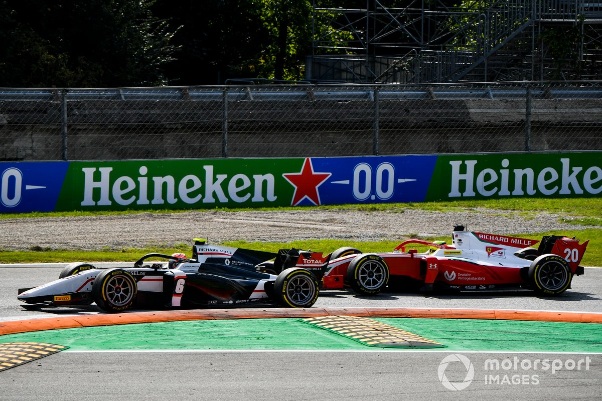 Christian Lundgaard, ART Grand Prix e Mick Schumacher, Prema Racing battle