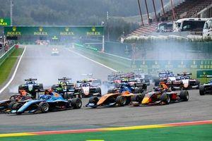Matteo Nannini, Jenzer Motorsport, Alexander Peroni, Campos Racing and Dennis Hauger, Hitech Grand Prix