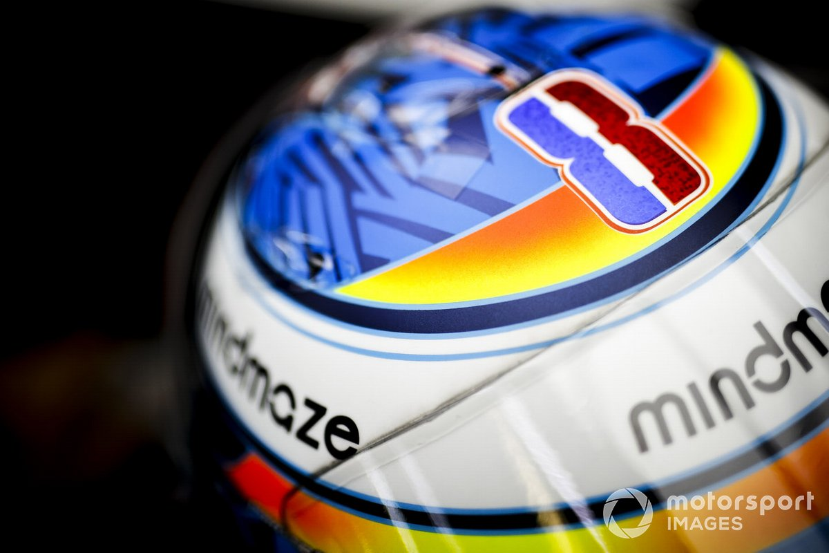 El casco de Romain Grosjean, Haas F1