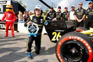 Polesitter Colton Herta, Andretti Autosport w/ Curb-Agajanian Honda