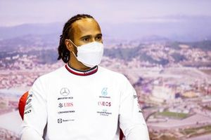 Lewis Hamilton, Mercedes, 1st position, in the post race Press Conference