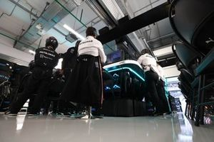 Toto Wolff, Team Principal and CEO, Mercedes AMG, in the garage