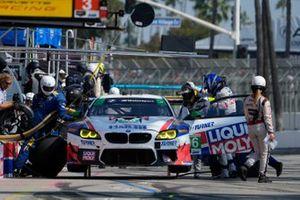#96: Turner Motorsport BMW M6 GT3, GTD: Robby Foley, Bill Auberlen pit stop.