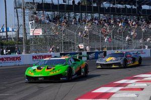 #19: GRT Grasser Racing Team Lamborghini Huracan GT3, GTD: Misha Goikhberg, Franck Perera ,#4: Corvette Racing Corvette C8.R, GTLM: Tommy Milner, Nick Tandy