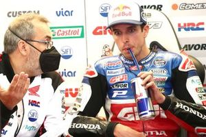Alex Marquez, Team LCR Honda, mit Christophe Bourguignon