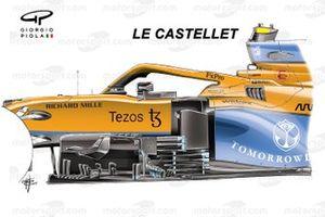 McLaren MCL35M nieuwe bargeboards: Frankrijk