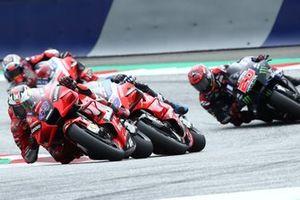 Jack Miller, Ducati Team, Jorge Martin, Pramac Racing, Fabio Quartararo, Yamaha Factory Racing, Johann Zarco, Pramac Racing