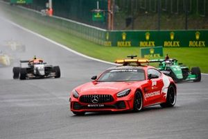 The Safety Car leads