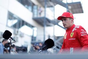 Charles Leclerc, Ferrari SF21, is interviewed after Qualifying
